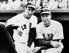 JOE DIMAGGIO AND TED WILLIAMS TWO ALLTIME LEGENDS RED SOX YANKEES  8x10