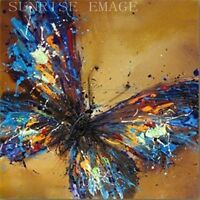 "OP120 1PCS PURE Hand painted Oil Painting On Canvas Butterfly (NO Frame) 20""x20"""