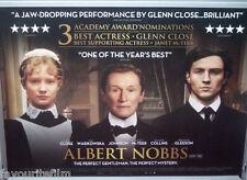Cinema Poster: ALBERT NOBBS 2012 (Quad) Glenn Close Antonia Campbell-Hughes