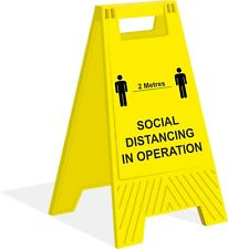 A-Frame Floor Sign - Safety - Social Distancing - Portable Sign