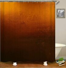Gorgeous Coppery Orange Brown Ombre Fabric Shower Curtain Farmhouse Chic Boho