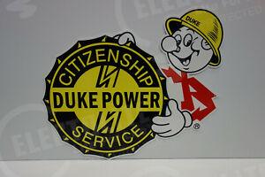 Reddy Kilowatt DUKE POWER ELECTRIC LIGHT COMPANY DIE CUT SIGN ELECTRICIAN GIFT