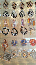 Joblot of 18 Pairs Mixed Design Diamante stud Earrings - NEW Wholesale lot B