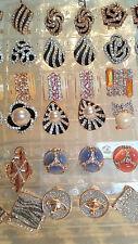 Joblot De 18 Pares Mixtas Diseño Diamante Aretes-nuevo al por mayor Lote B