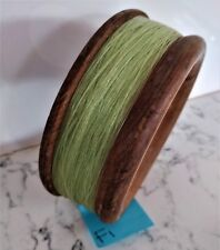 Vintage antique timber wooden fishing hand reel 15cm diameter x 5.2cm deep