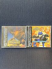 Play Station PS1 Digimon World, Digimon World 2 Lot Of 2