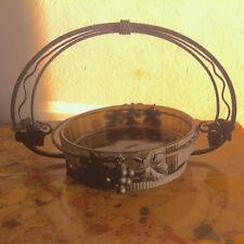 Centre de Table en fer forgé & pâte de verre, période Art Déco