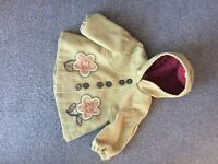 BABY GIRLS NEXT COAT AGE 6-9 MONTHS EXCELLENT CONDITION