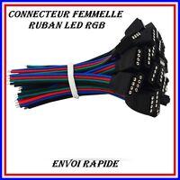 2X CONNECTEURS FEMELLE POUR RUBAN LED RGB 5050/3528 10mm SANS SOUDURE
