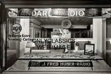 1926 RCA RADIO RECORD PLAYER STORE VINTAGE ADVERTISING WINDOW DISPLAY 8X12 PHOTO