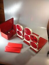 VINTAGE ANTHES SAFETY EMERGENCY REFLECTORS / FLARES SIGNALS W/ RED STEEL BOXED