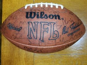 1990 Cleveland Browns Team Signed Tagliabue Football, 31+ autographs
