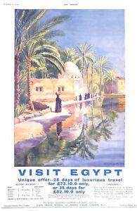 Egypt.Tourism.Advert.1930.W.A.Stewart.Beauty.Historical.Art.Travel advertisement