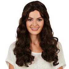 Perruque pour femme princesse Moyen-Âge tresse pour décorer costume Halloween