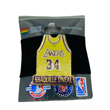 Shaquille O'Neal #34 Jersey LA Lakers NBA Vintage 1998 NOS Hat Lapel Pin