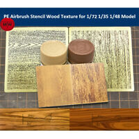 LIANG-0301/0302 PE Airbrush Stencil Wood Texture Tools for 1/35 1/48 1/72 Model