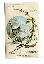 Victorian Trade Card UNION OIL CO Providence RI  Pure Salad Oil dressing recipes