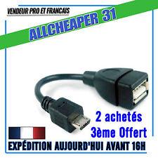 CABLE OTG ADAPTADOR USB HEMBRA ⇒ MICRO USB MACHO OTG