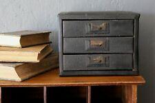 Vintage Industrial Metal Parts Bin Organizer Tool box Cabinet 3 Drawers black