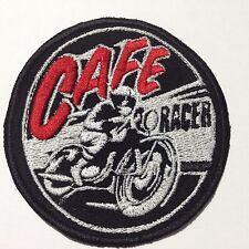 Cafe Racer Toppa Patch ricamata Termoadesiva