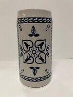 Ceramarte Budweiser Blue Delft Stein 4 Hearts Design Anheuser- Busch