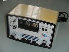 "Radio Réveil digital vintage ""HIGH POINT CR 108"" FM-PO-GO TBE Fonctionnel c1960"