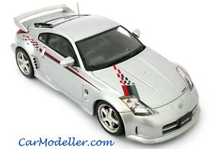 Ebbro Nissan Nismo Fairlady Z S-Tune GT silver with stripe 1:43 scale #43675
