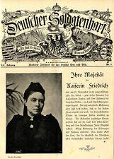 Majestät die Kaiserin Friedrich Note & Genesungswusch zum Geburtstag von 1901