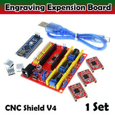 1 Kit x CNC Shield V4 Expansion Board 3.0 Stepper A4988 Driver for Arduino 3D UK