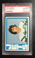 1972 Topps Joe Namath 100 New York Jets  PSA 8 NM-MT