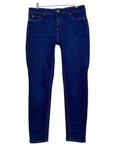 NEW LOOK medium blue wash skinny stretch JENNA jeans size 14