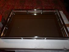WILLIAMS SONOMA HOME Glass Silver Mirrored Tray, Large, NEW, 22 INCH