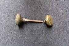 Original Vintage 50mm Brass Door Knobs (2) with Spindle