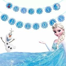 ❄️1x Disney Frozen Banner Bunting Flag. Party Supplies Lolly loot Bag Bunting