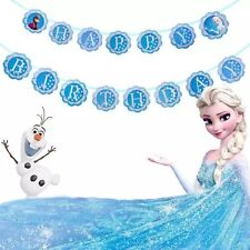 ❄️Disney Frozen Banner Bunting Flag. Party Supplies Lolly Loot Bag Decoration❄️