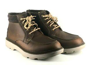 Clarks Dempsey Moc Mens UK 9.5 G Tan Tumbled EU 44 Lace Up Ankle Boots - Defect