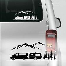 Bus Wohnwagen 30cm T5 Gespann Autoaufkleber B107 Berge Camper Urlaub Caravan