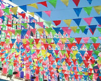10M Rainbow Birthday Party Pennant Flag Banner Bunting Hanging Decoration New