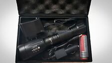 UltraFire Military Grade Tactical Flashlight Charger Battery T1100 TacLight Styl