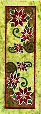 Poinsettia Table Runner Jeri Kelly Christmas Quilt Pattern