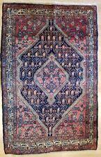 Terrific Tribal - 1920s Antique Oriental Rug - Nomadic Carpet - 3.9 x 6 ft.