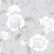 Boutique Papier Peint Fleur Gris - Rasch 226188 Fleurs