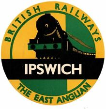 More details for british railways luggage label - the east anglian - ipswich