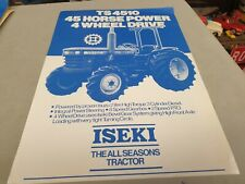 1980s ? ISEKI TS4510 4WD Tractor  New Zealand  Sales Leaflet