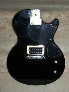 Used - Epiphone Les Paul Junior Body - Partially Loaded - Black /w/ Humbucker