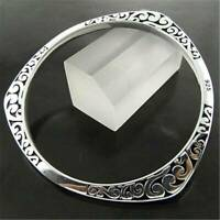 925 Sterling Solid Silver Bangle Bracelets Xmas Women Lady Lovers Jewelry Gifts