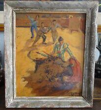 Pere Créixams peinture corrida Espagne Catalogne huile/panneau