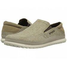 Crocs Men's Size 12 Santa Cruz Playa Slip-On Loafer Khaki/Stucco