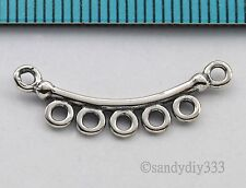 2x ANTIQUE STERLING SILVER NECKLACE CHANDELIER CONNECTOR BEAD 23mm #2777