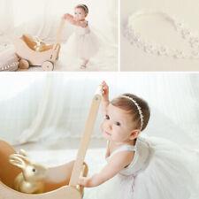 Baby Haarschmuck Haarband Mädchen Spitze BLUME SHABBY BLÜTE Schmuckstein Stirnband Baby Taufe